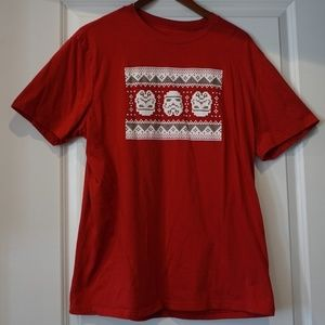 Star Wars Red Holiday Men's Tshirt XL